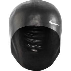 Nike Swim Solid Bonnet de bain en silicone, black/white